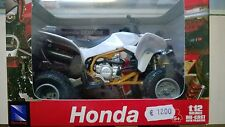 NEW RAY 1:12  MOTO DIE CAST HONDA TRX 450 R BIANCA ART 57503
