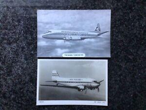 2 x Airline Cards AIR KRUISE (Dakota) - CUNARD EAGLE AIRWAYS (Vickers Viscount)