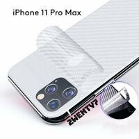 CLEAR iPhone 11 Pro Max Carbon Fibre Rear Back Protector Sticker Vinyl Skin Wrap