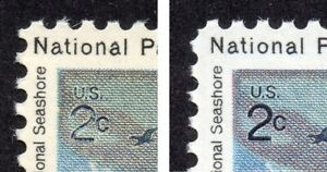 1451a 2c National Park underinked 2c MNH
