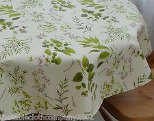 100cm Round Wipe Clean PVC Bistro Tablecloth - Herb Garden
