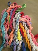 Grab Bag of 10 Large Skeins of Overdyed/Handpainted Floss - Free Shipping