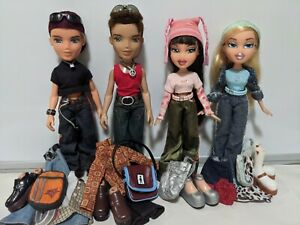 MGA Bratz lot - 4 dolls 2001 1st edition, Cloe Jade Dylan Cameron w clothes set