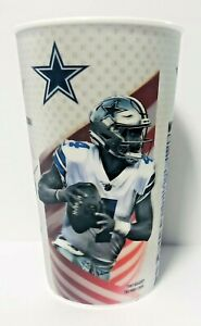 Dallas Cowboys Holographic Reusable Plastic Drink Cup 32 oz 3 Players Collect