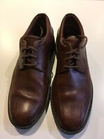 Clarks Men's Size 9 Active Air Vent Oxford Shows Brown Caramel Leather Laceup