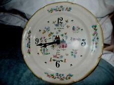 "Vintage 10 1/2"" Elgin Porcelain Quartz Plate Clock w/ Country Farm Scene. USA"