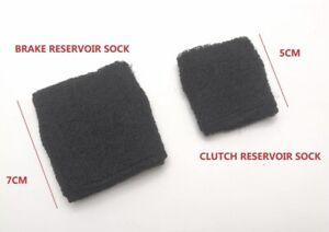 Plain Black Motorcycle Brake Clutch Fluid Reservoir Tank Sock Sleeve Covers