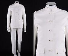 """NOS Vtg 1960s """"Designed by JAX"""" Rudi Gernreich Classic White Blazer Pant Suit XS"""