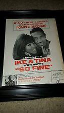 Ike And Tina Turner So Fine Rare Original Promo Poster Ad Framed!