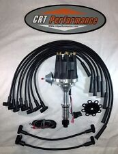 small cap BUICK 300 340 HEI BLACK Distributor + 8mm SILICONE PLUG WIRES - USA
