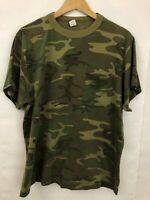 Vintage Camo Pocket T Shirt Sz XL Short Sleeve Single Stitch Camouflage Tee