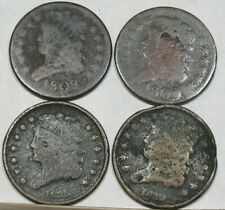 (2) 1809, (1) 1832, and (1) 1835 Low Grade Half Cents
