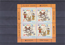 ROMANIA 2015,Old Toys,CEPT,Europe,block I,MNH,horse,bycycle,doll US GB