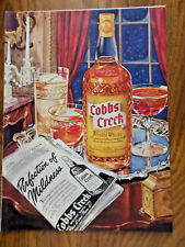 1942 Columbia Records Ad Nelson Eddy 19i42 Cobbs Creek Whiskey Ad
