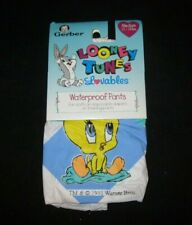 "Gerber Looney Tunes Lovables ""baby Tweety Waterproof Pants"" Size Medium 1993"