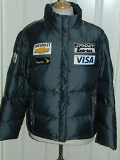 SPYDER US SKI TEAM WOMENS 700 FILL DOWN  PUFFER JACKET  SPONSOR BADGES  GRAY