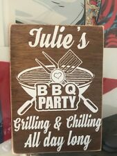 Personalised BBQ Garden Bar Drink Novelty Gift Wooden Hanging Plaque Sign Wood