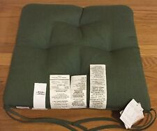 "NEW Pottery Barn Sunbrella Outdoor 19"" Tuft Dining Chair Cushion FERN GREEN"