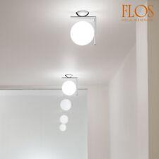 Lampada da parete IC C/W1 cromo, firmata Flos