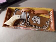 VINTAGE AMERICAN WEST TOY CAP GUN BY ESQUIRE IN BOX WITH HOLSTER