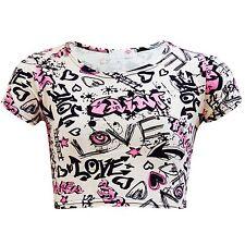 Magliette, maglie e camicie rosa a manica corta per bambine dai 2 ai 16 anni