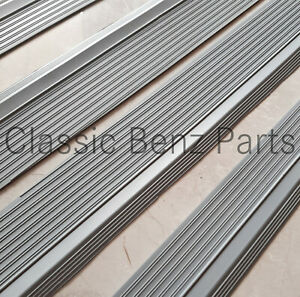 Mercedes W109 300SEL Door Sill Rubber Plate Cover Set Gray