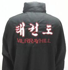 EUC MOOTO Mens JACKET Black TAE KWON DO Martial Arts Windbreaker SEWN sz 190/XL