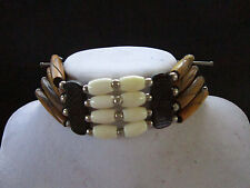 Brown & White  Buffalo Bone Choker Necklace Jewelry Native Tribal Regalia