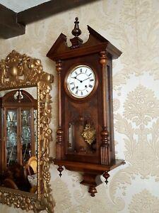 Antique quarter chiming ting tang Vienna regulator wall  Clock by Lenzkirch