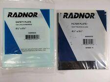 "Radnor 4 1/2"" X 5 1/4"" Shade 10 Heat Treated Glass Filter Plate Welding +Bonus"