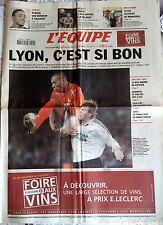 L'Equipe Journal 29/09/2005; Lyon-Rosenborg 1-0/ Real Madrid/ Liverpool et Chels