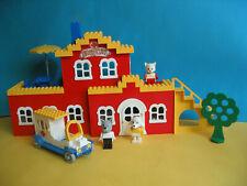 Lego Fabuland Krankenhaus 347 Hospital komplett mit 3 Figuren