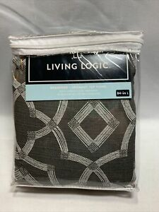 """Living Logic Branford Grommet Top Panel Charcoal 50""""W X 84""""L in New-#953946 M1"""