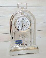 Chrome Arabic Dial Arched Design Quartz Pendulum Rhythm Anniversary Mantel Clock