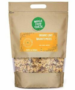 Organic Light Walnut Large Pieces   Raw   Vegan   GMO Free