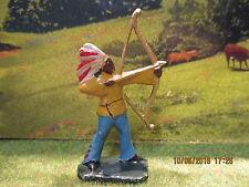 Rare figurine indien à l'arc cowboy Quiralu en très bel état