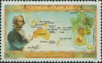 French Polynesia 1983 Sc#C199,SG397 200f Bligh, Map and Breadfruit MLH