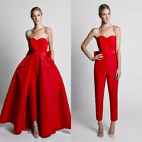 Sweetheart Jumpsuits Detachable Train Formal Party Prom Gowns Evening Dresses