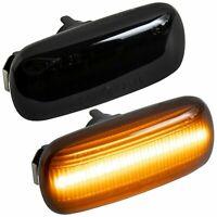 LED SEITENBLINKER schwarz für AUDI A3 8P   A4 B6 B7 & Cabrio   A6 C6 4F [7315-1]