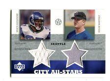 2003 City All-Stars Seattle Shaun Alexander Edgar Martinez Jersey Nice Card jh18