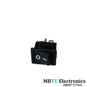 ON / OFF SWITCH TECHNOSONIC TEVION LCD TV - ROCKER SWITCH DEL TV REPAIR - NEW