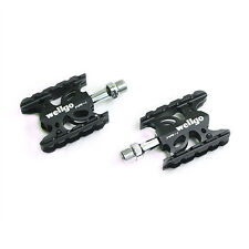 "Wellgo WR-1 MTB Mountain / Road Bike 9/16"" Aluminum Pedals Platform - Black"