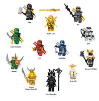 LEGO NINJAGO SET ZANE COLE NYA KAI JAY GOLDEN LLOYD WU GARMADON HARUMI SAMURAI X