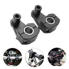 2 Motorcycle HandleBar Handle Fat Bar Mount Clamps Riser Universal 7/8'' 22mm