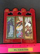 3 Stretched Portrait Disney Villains Pin Cruela, Maleficent, Queen of Hearts