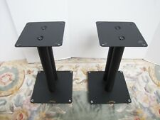 """Pair of Target Audio 16"""" black metal speaker stands. Made in England"""