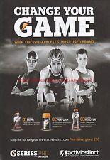 G Series Pro Gatorade Activinstinct 2012 Magazine Advert #7203