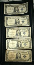 $1 Dollar US Silver Certificates Lot  5 pcs 1935 &1957