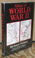 Atlas of World War II by Richard Natkiel-1985 Edition-150 Maps