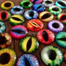 Transparent Round Glass Flatback Cabochon Scrapbooking Jewelry Pupil Eye 50PCs